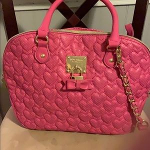 Betsy Johnson Pink Always Be Mine Dome Satchel